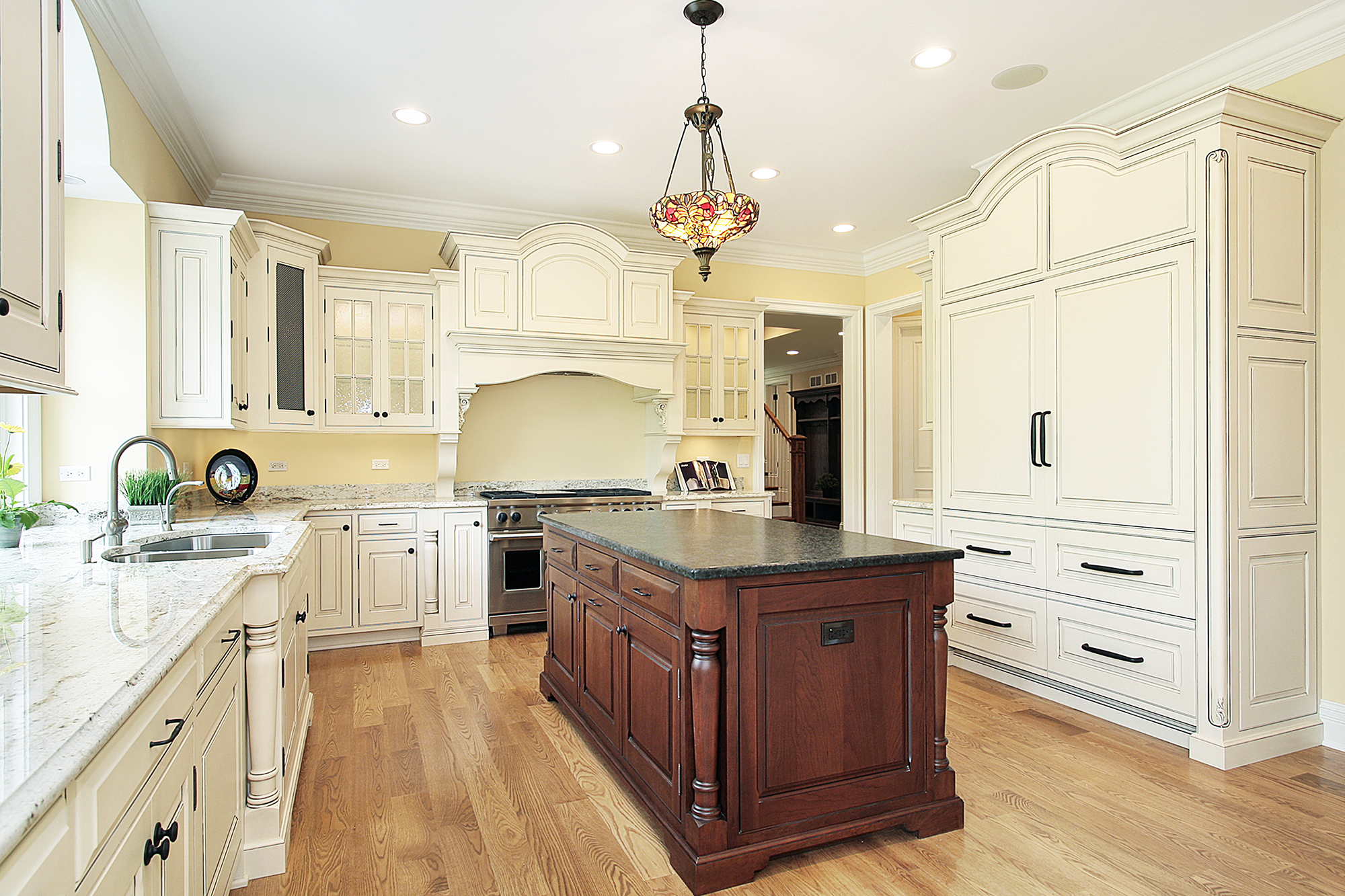 White Refaced Wood Cabinets